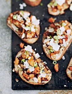 Pumpkin Bruschetta: A wonderful appetizer for get-togethers and social dinners.