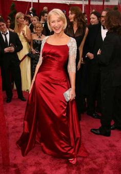 Dame Helen Mirren wears red for the red carpet_2008