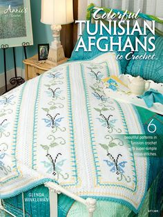 Picture of Colorful Tunisian Afghans to Crochet. Love this color!