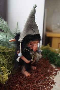 OOAK fantasy art doll woodland troll gnome GILRUK by Muyestillo