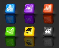 reading and literature internet royalty free vector icon set vector art illustration