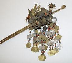 Very Ornate Rare Bira-Bira Kanzashi Japanese Hair Pin