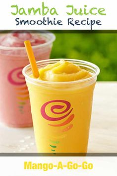 Juice recipes 495325659014911571 - The Jamba Juice Mango-A-Go-Go Smoothie celebrates the most widely consumed fruit in the world: the mango! This recipe will show you how to make one. Source by makedrinks Jamba Juice Recipes, Mango Smoothie Recipes, Blackberry Smoothie, Healthy Juice Recipes, Easy Smoothies, Juice Smoothie, Fruit Smoothies, Mango Pineapple Smoothie, Healthy Drinks