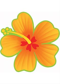 "$1 -The Hibiscus Flower Cutout measures to be 13"" x 13"" and can be hung indoors and outdoors. This cutout is perfect for luaus, pool parties, birthdays and more."
