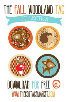 Free Digital Fall Woodland Tag Collection