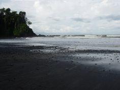 Black beach in Jaco, Costa Rica