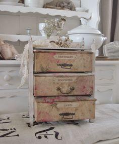 antique boxes - brocante-charmante