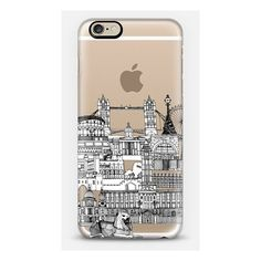 iPhone 6 Plus/6/5/5s/5c Case - London toile transparent (950 CZK) ❤ liked on Polyvore featuring accessories and tech accessories