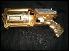 Nerf Gun: Maverick REV-6: Steampunk