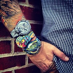 More awesome swatch and #tattoo style from fans. #watches