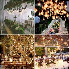 Weddings With Romantic Edison Bulb Decor - MODweddng