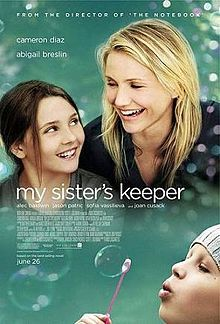 Conceived by means of in vitro fertilization, Anna Fitzgerald (Abigail Breslin) was brought into the world to be a genetic match for her older sister, Kate (Sofia Vassilieva), who suffers from acute promyelocytic leukemia, in order to keep her alive. This movie is really great, you'll have to watch with someone next to you as you will need a shoulder to cry on. Believe me, my boyfriend use mine :P