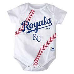 Total sasshole baby bodysuit cute gifts cool giftideas custom kansas city royals unisex baby one piece bodysuit creeper in white with iconic team logo at negle Image collections