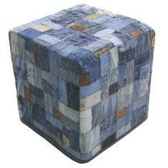 I pinned this Moe's Home Collection Denim Ottoman from the Route 66 event at Joss and Main!