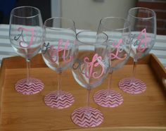 chevron painted wine glass - Google Search