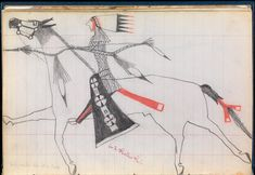 Infinity of Nations: Art and History in the Collections of the National Museum of the American Indian - George Gustav Heye Center, New York  lakota 1848 ledger book drawings