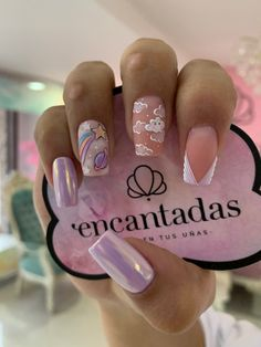 Acrylic Nails Coffin Pink, Disney Acrylic Nails, Gold Glitter Nails, Pink Nails, Gel Nails, Grunge Nails, Swag Nails, Mickey Nails, Pretty Nail Art