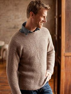 Ravelry: Boat Neck Faux Rib Pullover pattern by Bruce Weinstein
