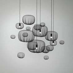 NENDO : FLOATING NETTING LAMP