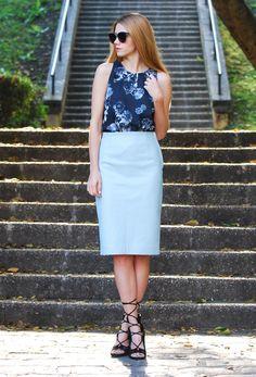 Top - BNKR / Skirt – Zara / Shades – ZeroUv / Heels – Anna Xi.