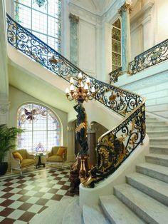 25 Most Luxurious Hotels Worth the Money Luxury Hotel in Paris - Shangri-La Hotel, Paris luxury holidays, lux travel, boutique hotel design. Visit www. Hotel Paris, Paris Hotels, Paris Paris, Paris City, Shangri La Paris, Shangri La Hotel, Grand Staircase, Staircase Design, Marble Staircase