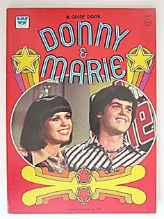 Donny & Marie Whitman Coloring Book 1977