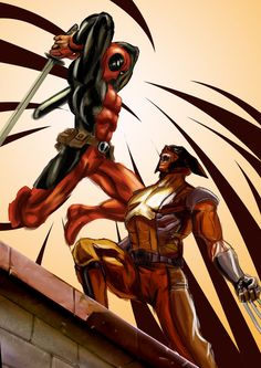 #Deadpool #Fan #Art.(Deadpool VS Wolverine) By: Ronaldesign. [ THANK U 4 PINNING!!]