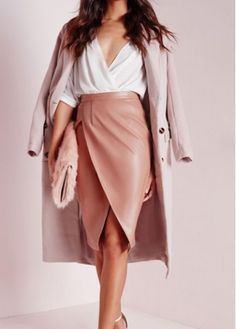 a6ef0a3a12e Pink Asymmetric Hem High Waist Skirt - USD  17.66 Waist Skirt