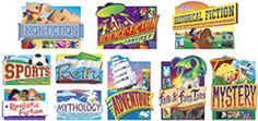 10 Piece Reading Genres Bulletin Board Cut Outs Set