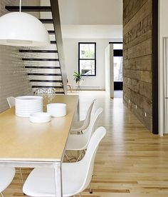 Feature recycled timber wall