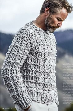 Men's simple knit sweater