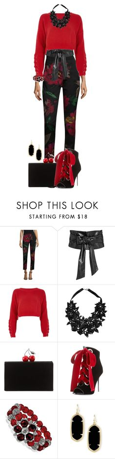 """Begin the year in style"" by shirley-degannes ❤ liked on Polyvore featuring Trina Turk, River Island, Stefanel, Edie Parker, Giuseppe Zanotti, 1928 and Kendra Scott"