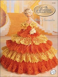 Crochet - Doll Patterns - Bed Doll Patterns - The Cotillion Collection Miss November 1992