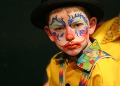 Beautiful Clown Faces | Face Painting Designs -- Clown Face Painting Design