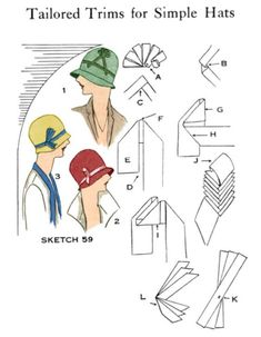 how to make a 1920s hat