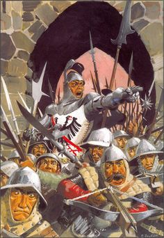 Du Guesclin directing a French siege Medieval Armor, Medieval Fantasy, Military Art, Military History, Larp, High Middle Ages, Knight Art, High Fantasy, Knights Templar