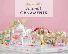 DIY Holiday Decor: Animal ornaments for your Christmas tree.