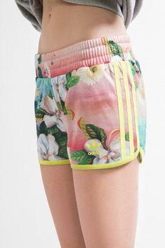 adidas X UO Floralina Runner Short #urbanoutfitters