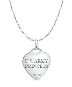 Sterling Silver Army Girlfriend Necklace