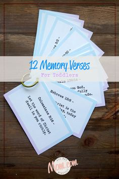 Toddler Bible Memory Verses. Free Printables included to take along with you.