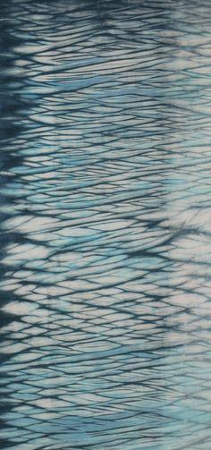 Hand Dyed Shibori Fabric Eniwa One Half Yard by vickiwelsh