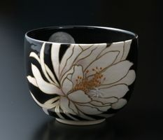 抹茶茶碗 月下美人 by祇園359