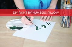 DIY paint-by-numbers throw pillow
