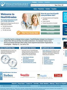 I just discovered HealthGrades on TIME's list of Best Websites. Explore it and more must-see sites on TIME.com.
