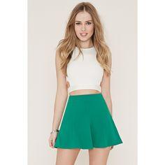 Forever 21 Women's  Mini Skater Skirt ($13) ❤ liked on Polyvore featuring skirts, mini skirts, short skater skirt, mini circle skirt, forever 21, circle skater skirt and flared skater skirt