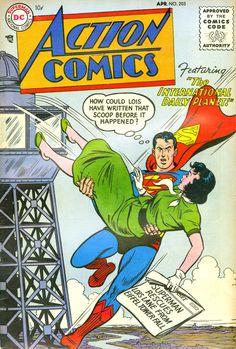 Action Comics #203, april 1955, cover by Al Plastino.