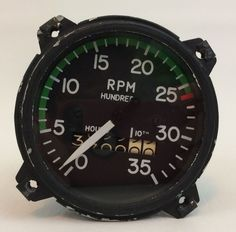 RT 7 Aircraft Tachometer 0 to 3500 RPM AC #AC
