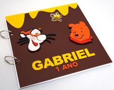Caderno para mensagens Ursinho Pooh