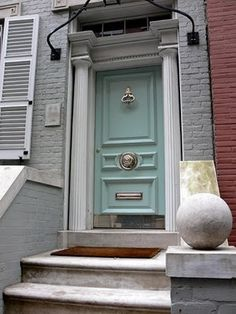 mint. I think I may repaint my front door this color, but with the red chairs, I may look like Smeeks