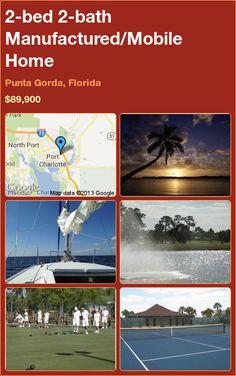 2-bed 2-bath Manufactured/Mobile Home in Punta Gorda, Florida ►$89,900 #PropertyForSale #RealEstate #Florida